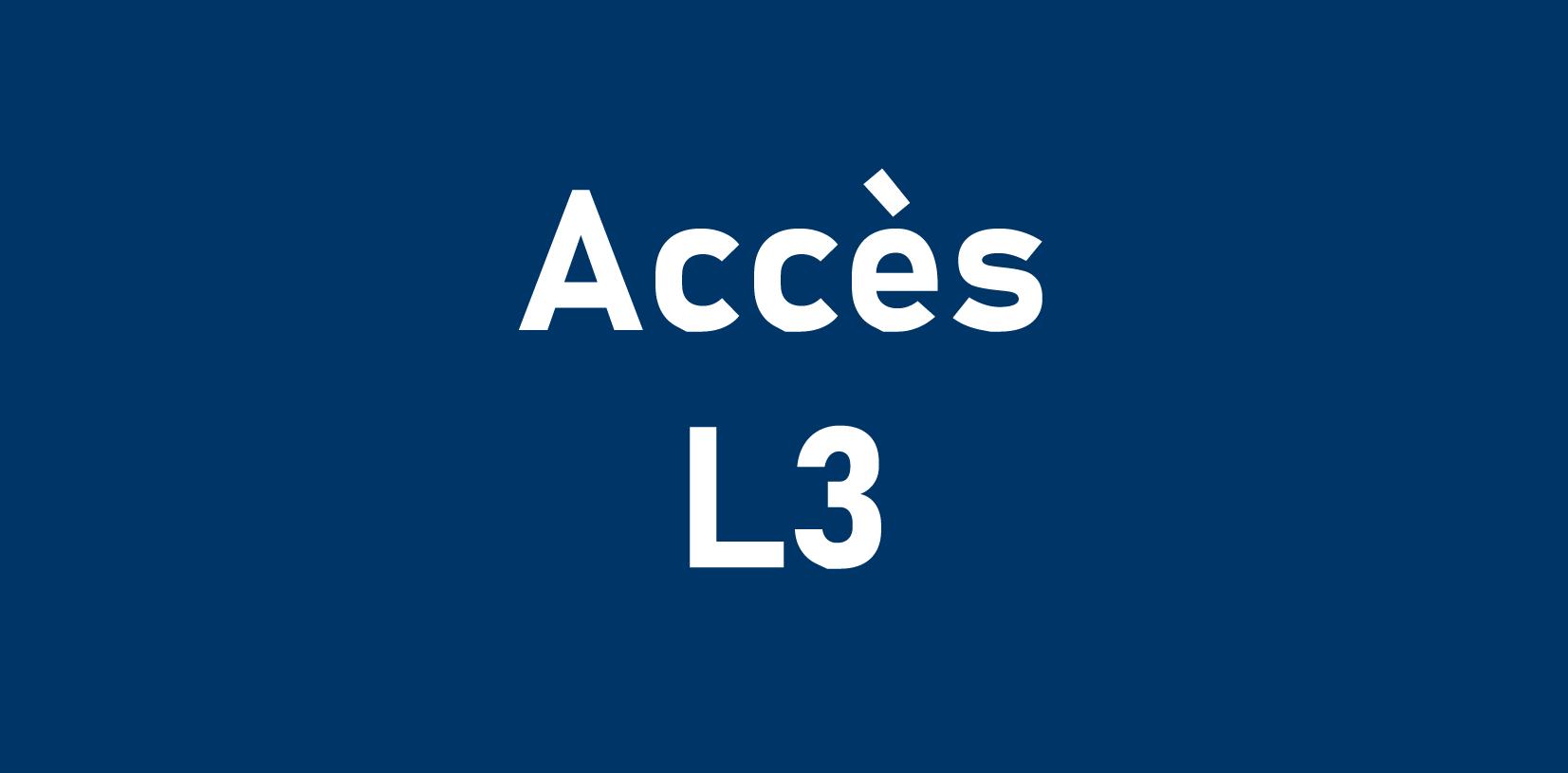 Accès L3
