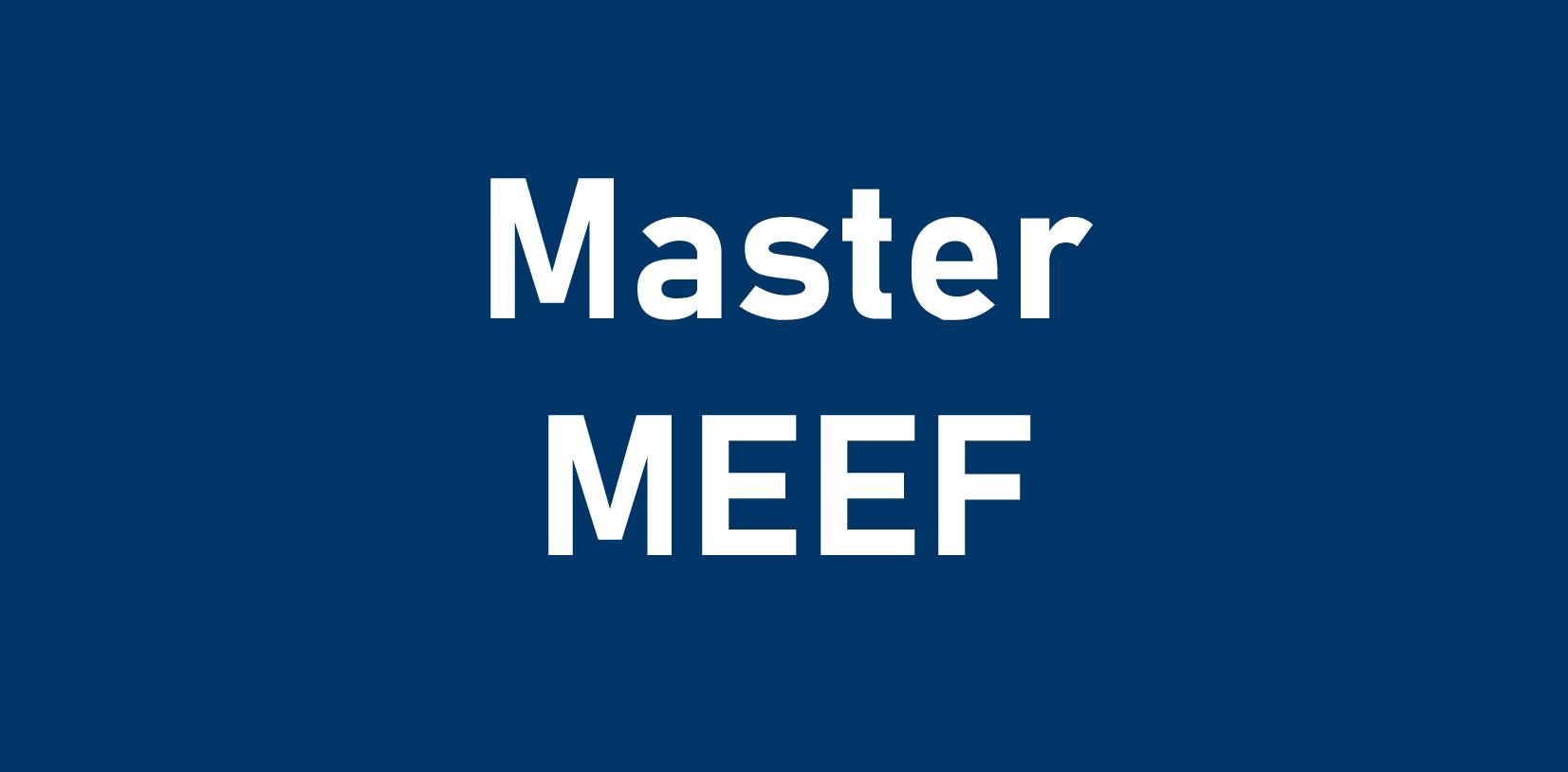 Master MEEF