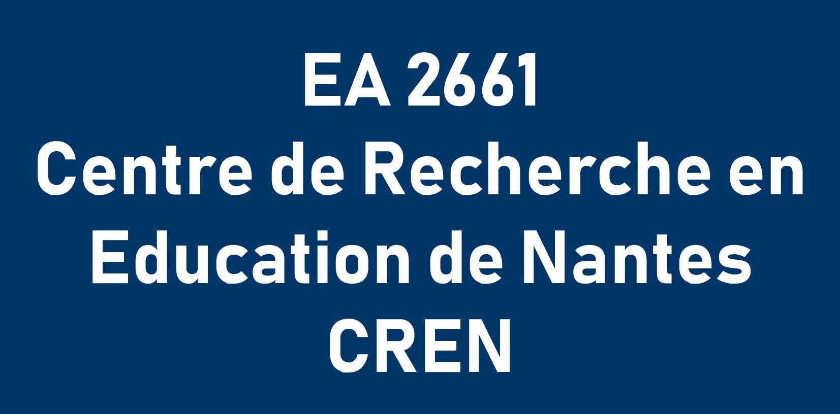 EA 2661 Centre de Recherche en Education de Nantes