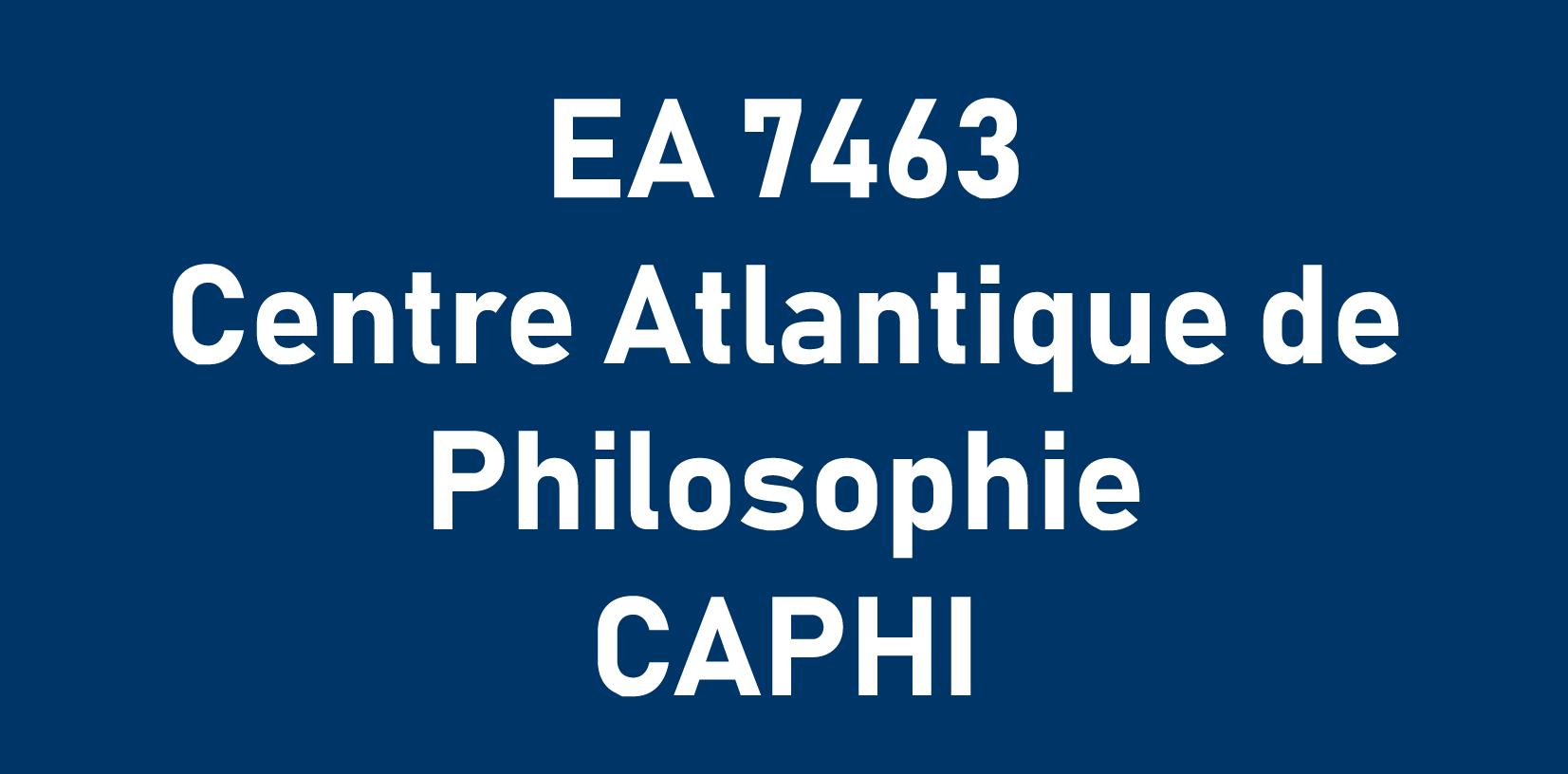 EA 7463 Centre Atlantique de Philosophie CAPHI