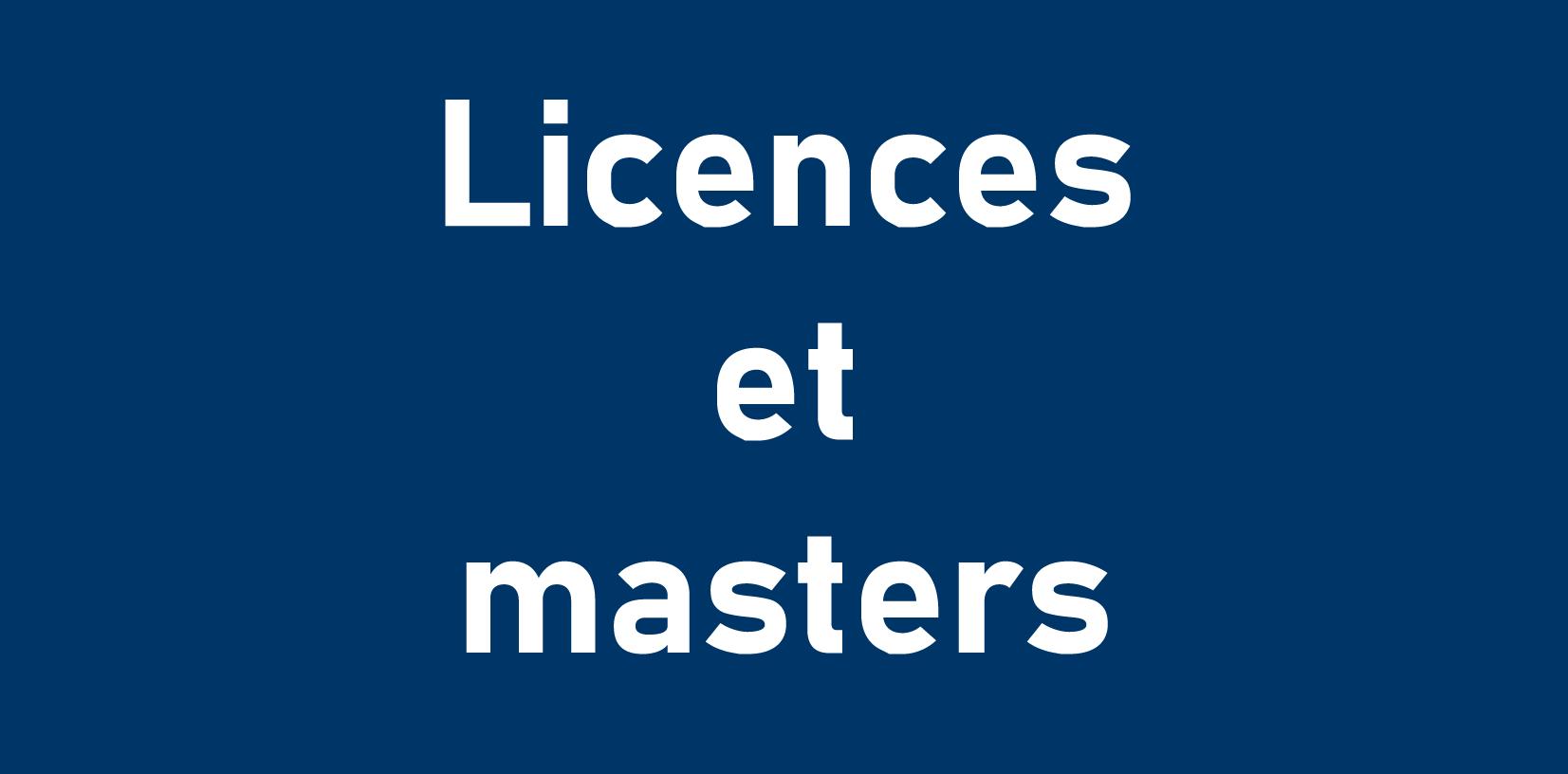 Licences et masters