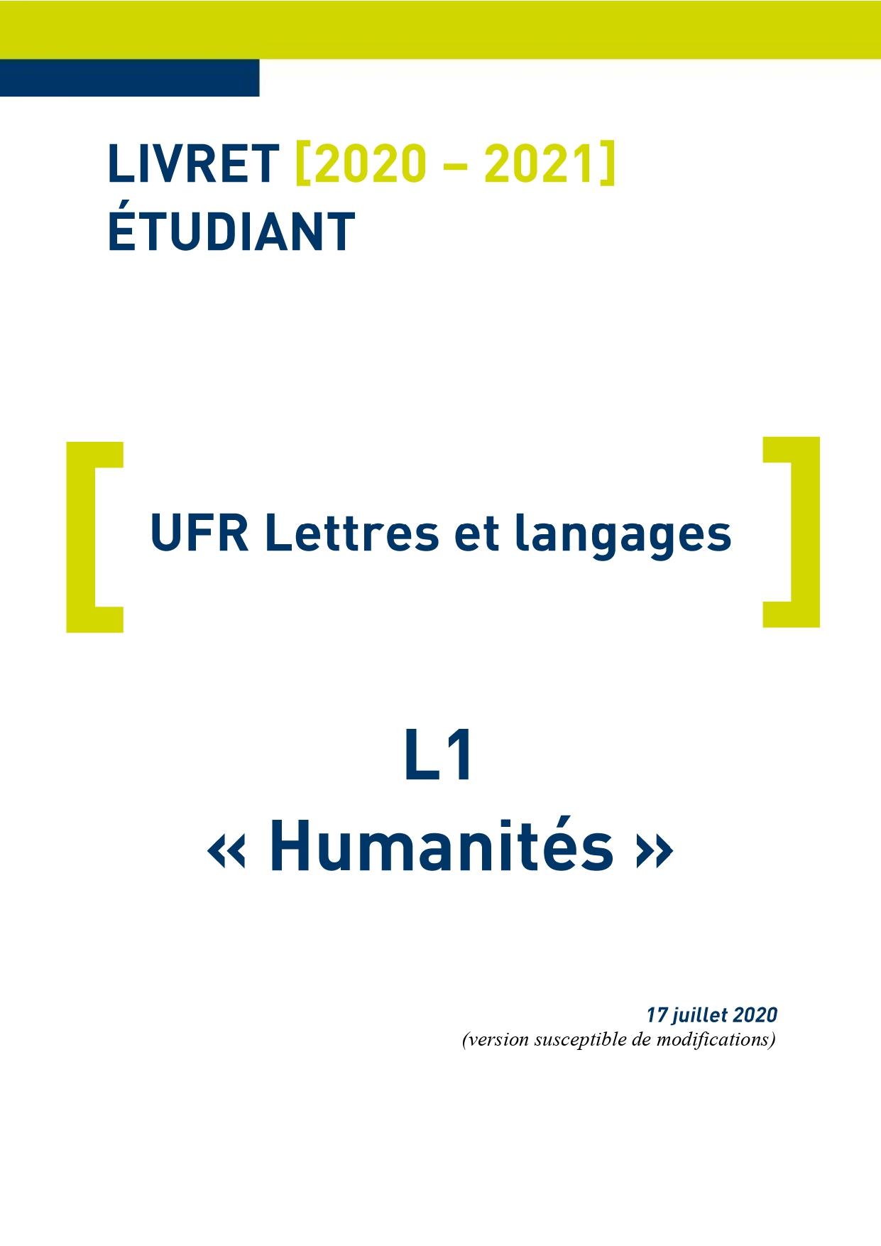 L1 Humanités