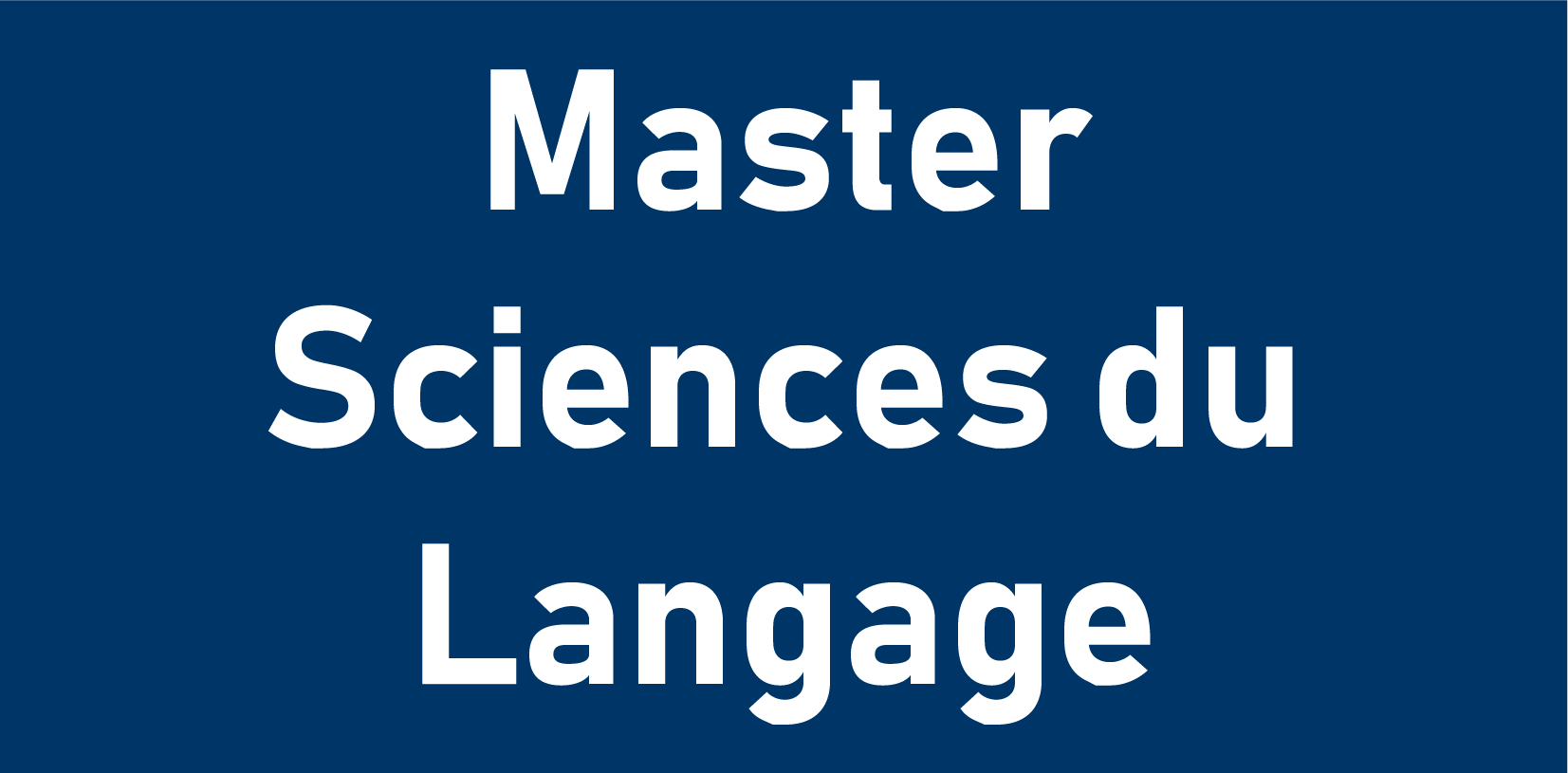 Master Sciences du Langage
