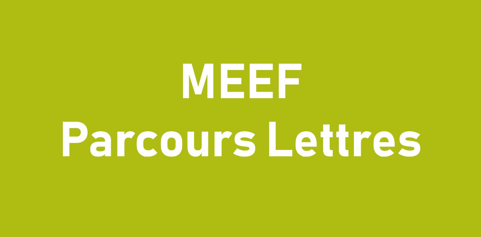 MEEF Parcours Lettres