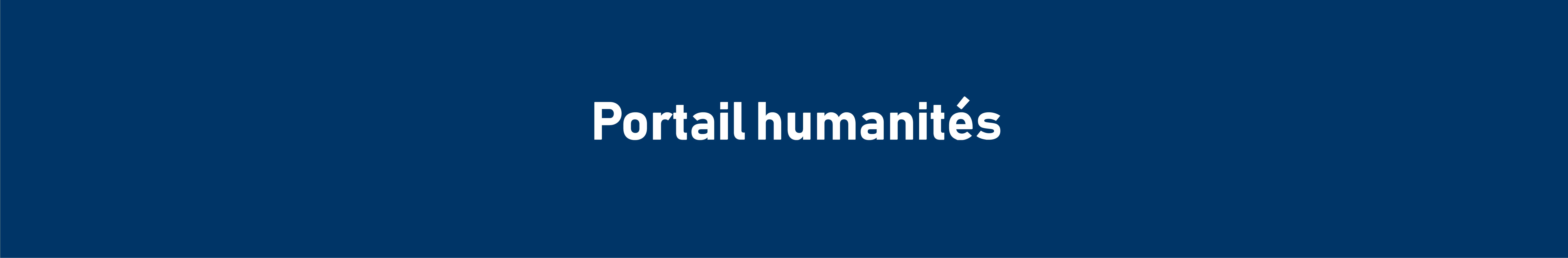 Portail humanités